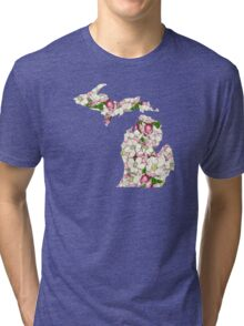 Michigan Flowers Tri-blend T-Shirt