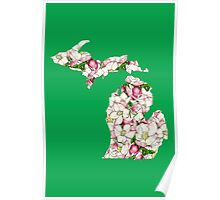 Michigan Flowers Poster