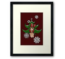 Snowflake: Christmas Tree Framed Print