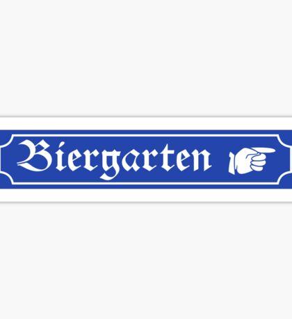 Biergarten Sign, Bayern, Germany Sticker