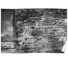 Stone wall, Ottawa - December 2011 Poster