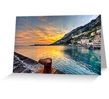 Sunset in Amalfi Greeting Card