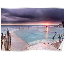 Stormy Sunrise over Bronte Beach Pool Poster