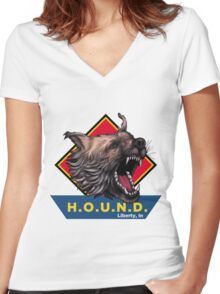 H.O.U.N.D Liberty, In shirt Women's Fitted V-Neck T-Shirt