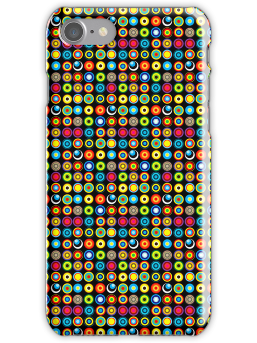 Poke-A-Dots - Black [iPhone case] by Damienne Bingham