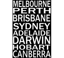 AUSSIE STATE CAPITALS Photographic Print