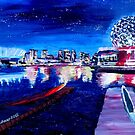 Vancouver skyline at night by artshop77