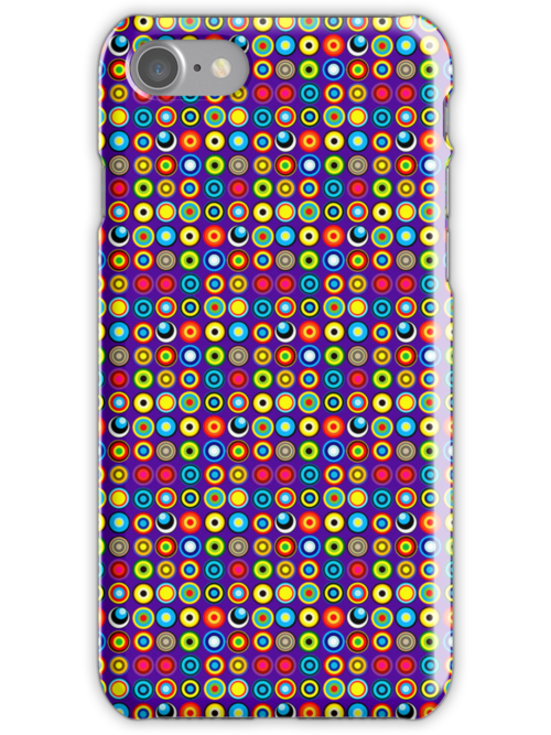 Poke-A-Dots - Indigo [iPhone case] by Damienne Bingham