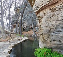 Outflow of Montizuma's Well by johntbell