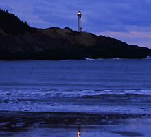 Night Falls on Cape Forchu by Debbie  Roberts