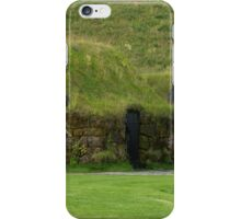 Traditional iclandic houses with grassy roofs. iPhone Case/Skin