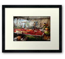 Chef - Vegetable - Jersey Fresh Farmers Market Framed Print