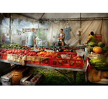 Chef - Vegetable - Jersey Fresh Farmers Market Photographic Print