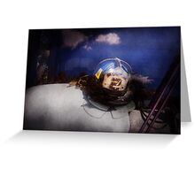 Fireman - Captains hat Greeting Card