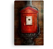 Fireman - The fire box Canvas Print