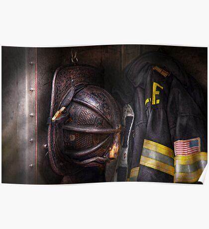 Fireman - Worn and used Poster