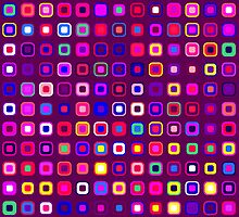 Retro Squares - Magenta [iPhone case] by Damienne Bingham