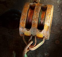 Boat - Block and Tackle II by Mike  Savad