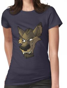 Brown wolf head with shading Womens Fitted T-Shirt