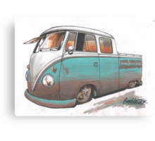 Muddy bus Canvas Print