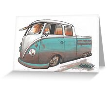 Muddy bus Greeting Card