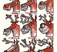Rudolf the Red-Nosed Reindeer plus eight others by dotmund