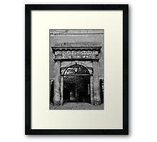 Stockbridge Market entrance in Edinburgh Framed Print