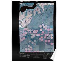 USGS Topo Map Washington State WA Page 20110404 TM Inverted Poster