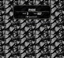 Iphone Skyrim Stats by SkinnyJoe