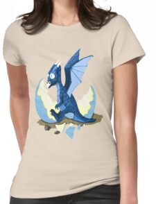 Blue Dragon Hatchling Womens Fitted T-Shirt