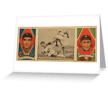 Benjamin K Edwards Collection Geo Moriarty Ty Cobb Detroit Tigers baseball card portrait Greeting Card