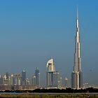 Dubai Skyline from Afar by Sammy77