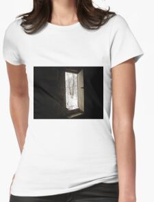 Doorway To Winter  Womens Fitted T-Shirt