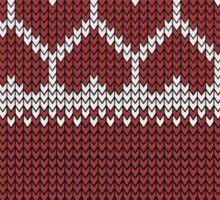 Knitted Fair Isle Hearts Sticker