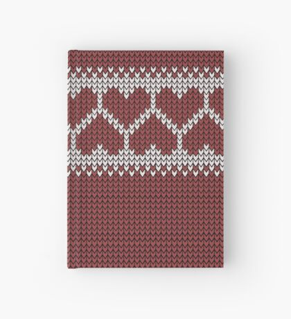 Knitted Fair Isle Hearts Hardcover Journal