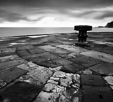 A Capstan in the Morning BW by Andy Freer