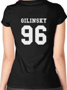 Gilinsky 96 #GILINSKY96 Jack Gilinsky white Women's Fitted Scoop T-Shirt