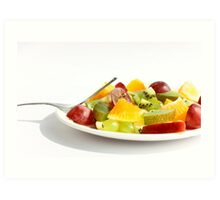 Mixed Fruit Salad Art Print