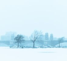 Snow canvas of Longfellow Bridge by Owed to Nature