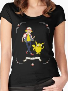 Adventures outside Pallet Town Women's Fitted Scoop T-Shirt