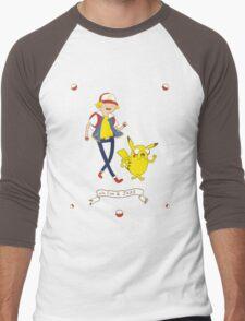 Adventures outside Pallet Town Men's Baseball ¾ T-Shirt