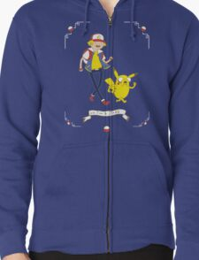 Adventures outside Pallet Town Zipped Hoodie