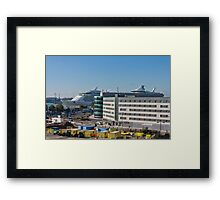 Independence of the Seas in Southampton Framed Print