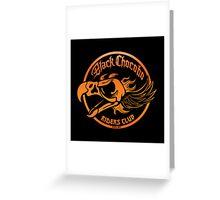 Black Chocobo Riders Club Greeting Card