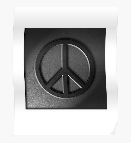 Peace Sign Stone Texture Poster