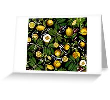 Lemon Tree - Black Greeting Card