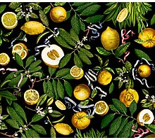 Lemon Tree - Black Photographic Print