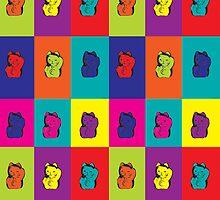 Maneki Neko Kitty Rainbow by ValeriesGallery