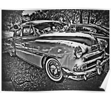 Champagne Chevy In Chrome Sauce Poster