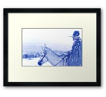 Capt. Call in a Snowstorm Framed Print